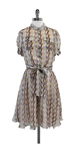 Diane von Furstenberg short dress Silk Button Up Tie Waist on Tradesy