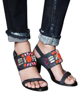 Free People Leather Black Sandals