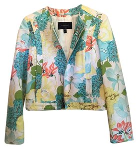 Burberry London Blazer Floral Blue, Yellow, Green, Coral Jacket