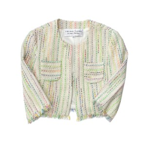 Trina Turk Multi Color Tweed Cropped Jacket