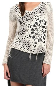 Free People Crochet Eggshell Sweater