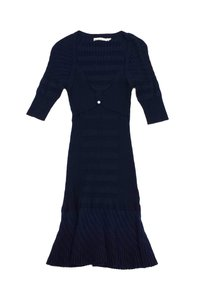 Karen Millen short dress Navy 3/4 Sleeve Ribbed on Tradesy