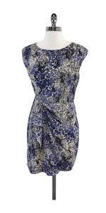 Shoshanna short dress Blue & White Leopard Print on Tradesy