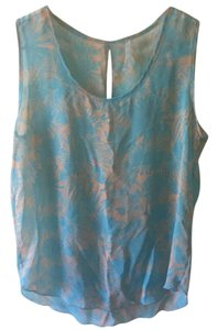Francesca's Top Light blue/tan