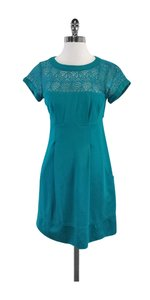 Nanette Lepore short dress Teal Crochet Short Sleeve on Tradesy