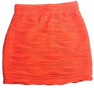 Sparkle & Fade Halloween Pumpkin Mini Bodycon Night Out Mini Skirt Orange