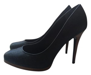 Ralph Lauren Suede Denim New Navy Blue Pumps