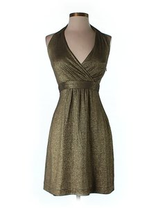 Milly of New York Metallic Halter Dress