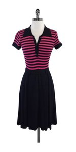 MILLY short dress Pink & Black Striped on Tradesy