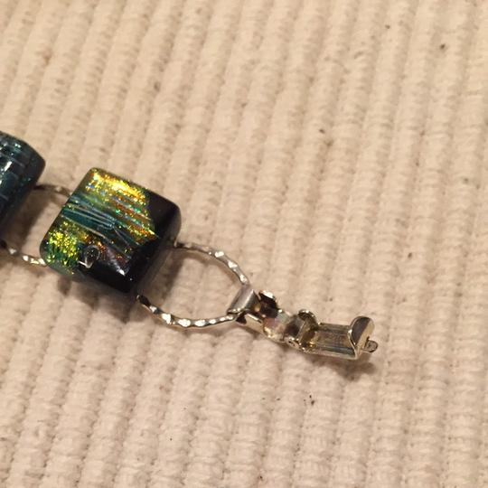 Unknown Silver And Iridescent Stone Bracelet