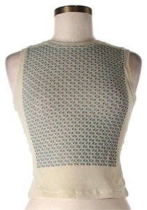Fendi Knit Sleeveless Signature Cropped Sweater