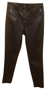 Forever 21 Faux Leather Straight Leg Jeans-Coated