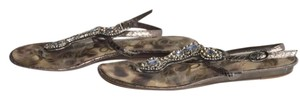 Sam Edelman Leather Rhinestone Bronze Sandals