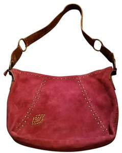 Betsey Johnson Maroon with Gold Accents Messenger Bag