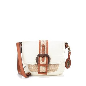 Børn Born Leather Straw Cross Body Bag