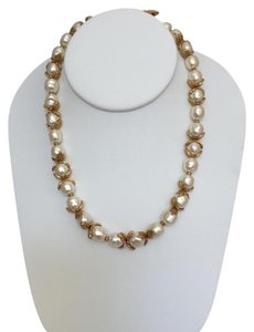 St. John Baroque Pearl and Gold Plated Necklace