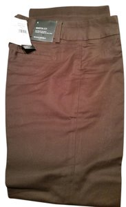 Banana Republic Trouser Martin Fit Career Boot Cut Pants Brown