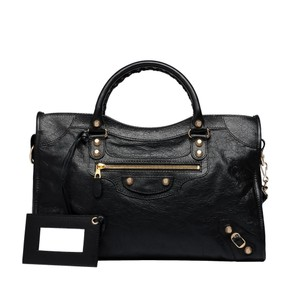 Balenciaga Giant Gold City Tote in Black