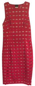 Tracy Reese Red Style Fashion Nude Eyelet Dress