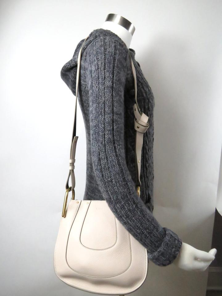 f0006138 Chloé Hayley Small Leather Abstract White Calfskin Hobo Bag 20% off retail