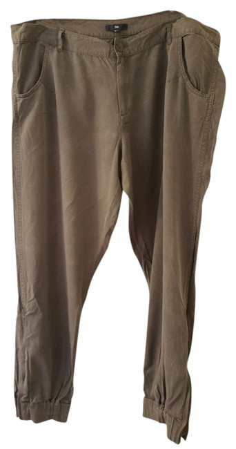 Item - Grey Rolled-up Chino Pants Size 16 (XL, Plus 0x)