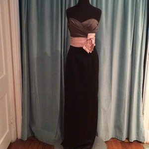 Andrew Adela Charcoal/Black/Blush Dress