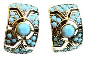 MONET Monet Faux Turquoise Clip On Earrings