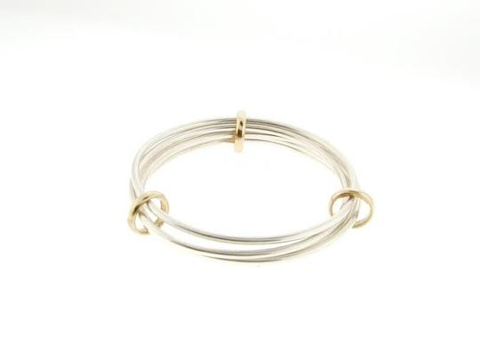 Other 14k Yellow gold & Sterling silver bangle bracelet - Wholesale must see