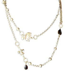 Cookie Lee Cookie Lee Oversized Double Wrap Charm Necklace