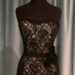 Ambiance Black/Champagne A214 Dress