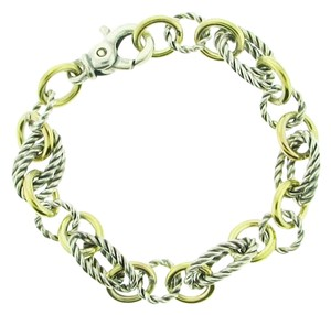 Other DESIGNER 18k Yellow gold & Sterling Silver Italian Bracelet
