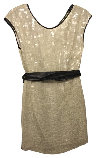 Stella & Jamie White and Black Sequin Quincy Above Knee Cocktail Dress Size 8 (M) Stella & Jamie White and Black Sequin Quincy Above Knee Cocktail Dress Size 8 (M) Image 1