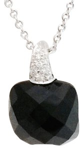 Crivelli Crivelli 18K White Gold, Diamond, Black Onyx Pendant Necklace