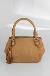 J.Crew Leather Long Strap Satchel in Tan