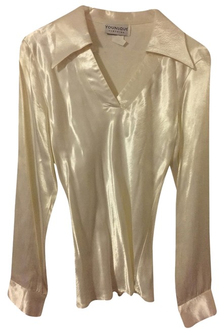 Preload https://img-static.tradesy.com/item/1949689/younique-clothing-satin-white-blouse-size-8-m-0-0-650-650.jpg