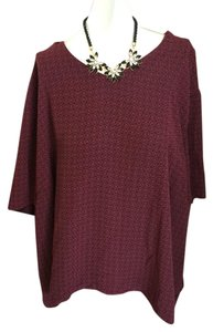 Talbots Top Burgundy