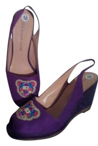 Marc Jacobs Purple Wedges