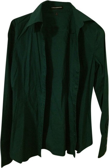 Preload https://img-static.tradesy.com/item/1949702/express-forest-green-button-down-top-size-4-s-0-0-650-650.jpg
