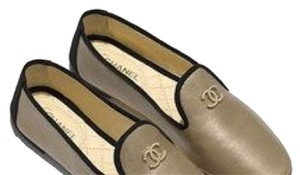 Chanel Gold Flats