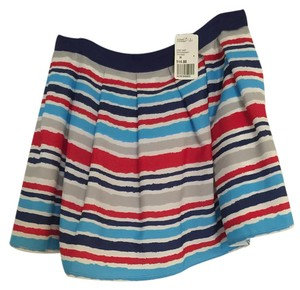 Forever 21 Stripped Mini Red Mini Skirt Red/White/Blue
