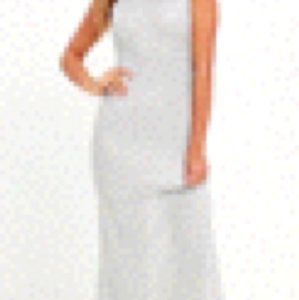 Silver Maxi Dress by Sugarlips