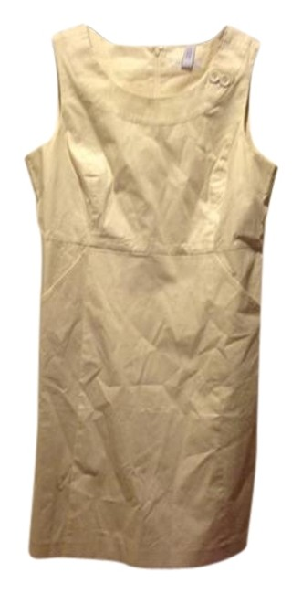 Item - Beige New with Tags. . Mid-length Work/Office Dress Size 12 (L)