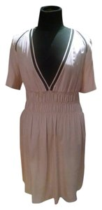 Maje Spring V-neck Pink Nude Dress