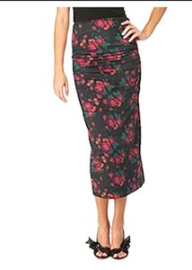 Floral Multi Maxi Dress by Betsey Johnson Tube Skirt Maxi Skirt Vintage Grey Lycra