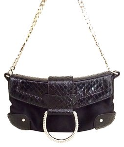 Dolce&Gabbana Satin Leather Chain Evening Crocodile Rock Star Dolce And Gabbana Baguette