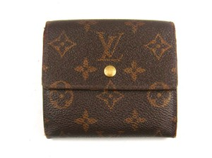 Louis Vuitton Porte-Monnaie Billets Monogram Canvas Leather Trifold Wallet France