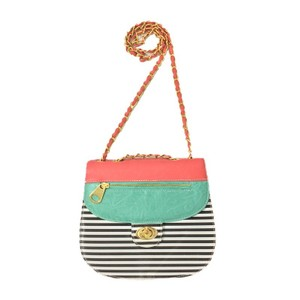Nila Anthony Striped Color-blocking Cross Body Bag