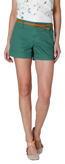 Item - Green And Twill Shorts Size 4 (S, 27)
