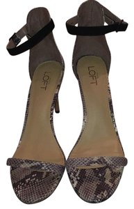 Ann Taylor LOFT Gray, Black, White, Snakeskin Pumps