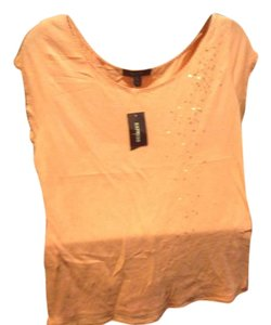 Express Brand Peach Color New With Tahpgs Sequins T Shirt